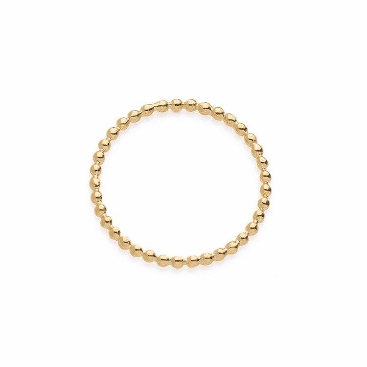 Angle Diamond Dot - Entwined ring