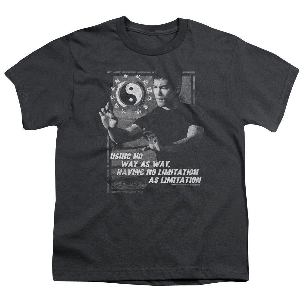 BRUCE LEE/NO WAY AS A WAY-S/S YOUTH 18/1-CHARCOAL