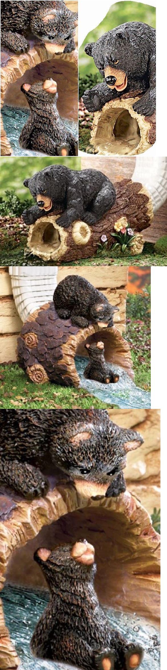 Rain Gauges 75593: Bear Outdoor Decor Rain Gutter Downspout Diverter ...