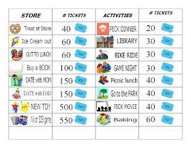 GaelS Crafty Treasures Good BehaviorChore Chart Free