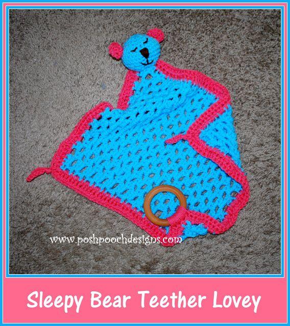 Free crochet pattern: Sleepy Bear Teether Lovey with video tutorial ...
