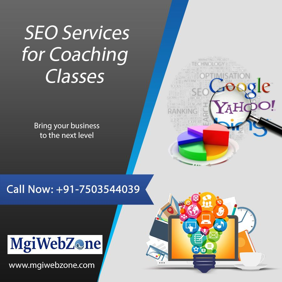 Advertisement For Coaching Institute Seo Services Business Website Coaching