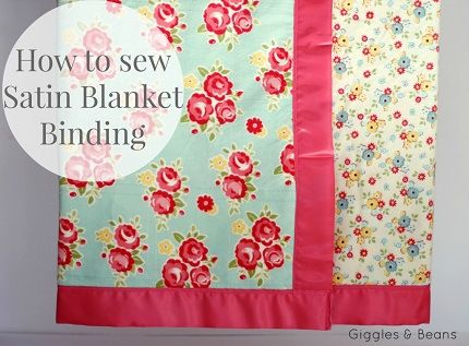 50c7d6e96 Tutorial  Finish a baby blanket with satin blanket binding