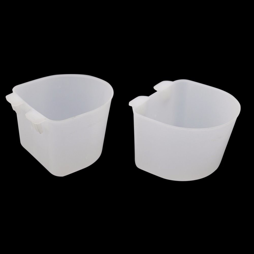 White Plastic Round Cup Pigeon Product Drinker//Feeder for pigeons