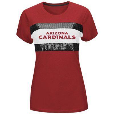 3d7abb53 Women's Arizona Cardinals Majestic Cardinal Touchdown Queen T-Shirt ...