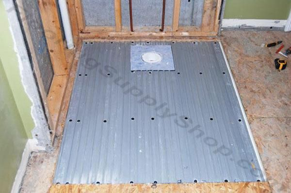 Clearpath Curbless Shower Pan System Complete Floor Kit With