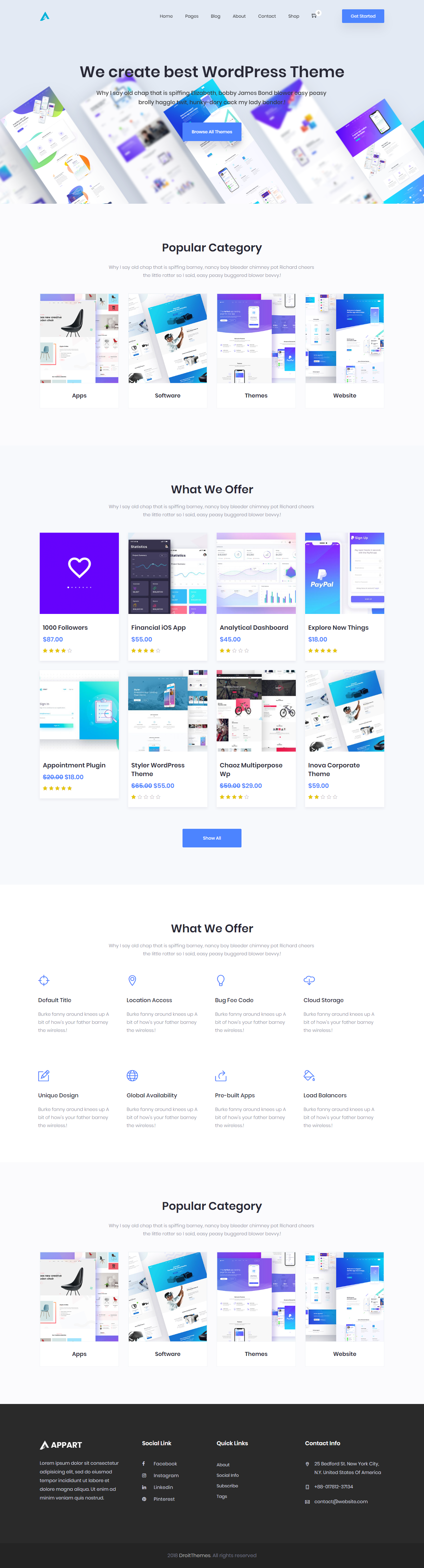 Appart Creative Wordpress Theme For Apps Saas Software Creative Wordpress Themes Wordpress Theme Web App Design