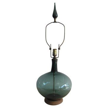 Check out this item at One Kings Lane! Blenko Blown Glass Lamp w/ Glass Finial