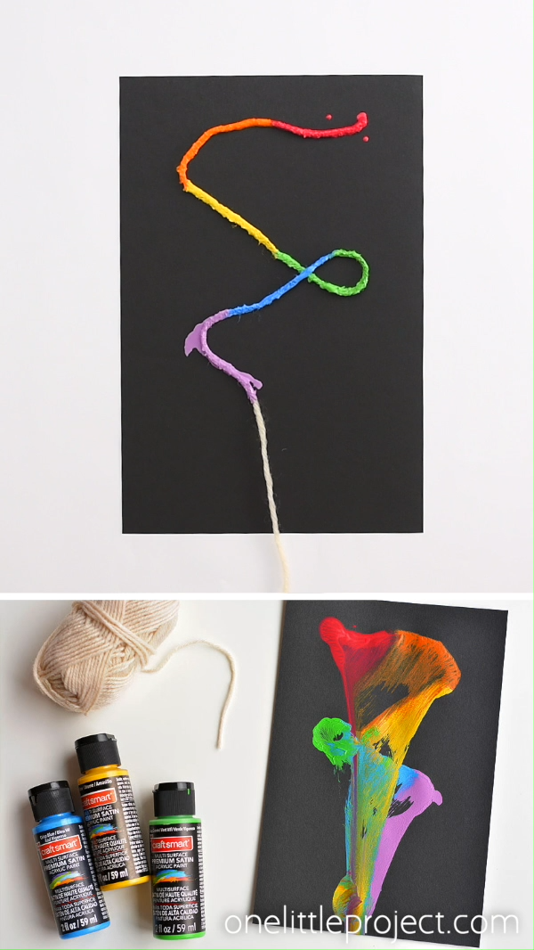 String Pull Painting: String Paint Art With Acryli