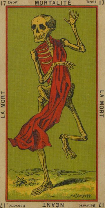 Thoth Death Tarot Card Tutorial: Book Of Thoth Etteilla Tarot Death Card