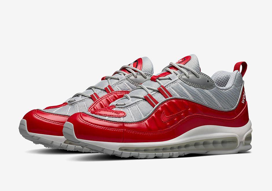 Supreme X Nike Air Max 98 Style Code 844694 600 Nike Air Max 98 Rot  Schuhe