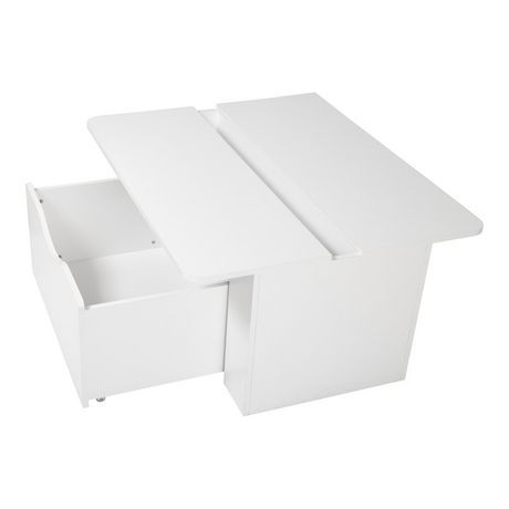 South Shore Storit Kids Activity Table With Toy Box On Wheels Pure White For Sale At Walmart Canada Sho Kids Storage Boxes Kids Activity Table Activity Table
