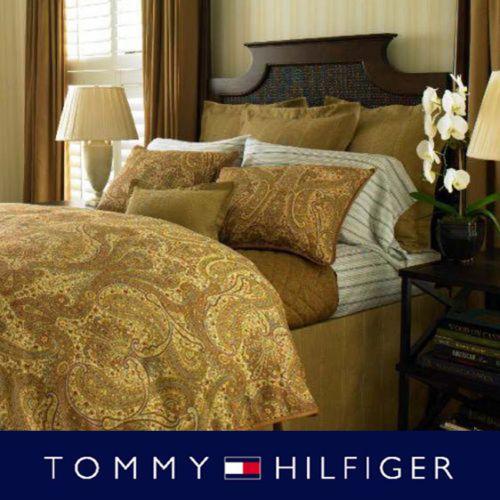 Tommy Hilfiger Royale Safari 3pc Comforter Set Yellow Gold Paisley