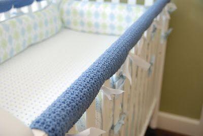 Crocheted Crib Rail Guards Pattern Crochet Crib Crib Rail Guard Crib Rail Cover