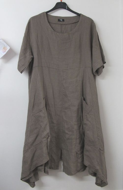 a6b77b1804 Lagenlook MB Germany Linen Tunic Dress Mocha