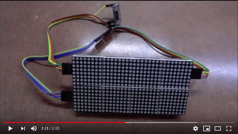esp8266 dot matrix clock   esp8266 in 2019   Internet clock, Clock, Led