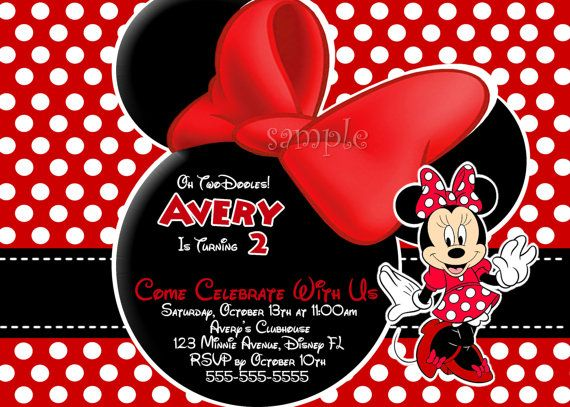 Huge Selection Minnie Mouse Birthday Invitation Mickey Mouse