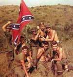 Confederate flag displayed by US soldier