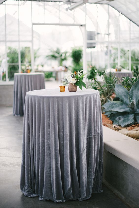 Velvet Table Linens For Wedding
