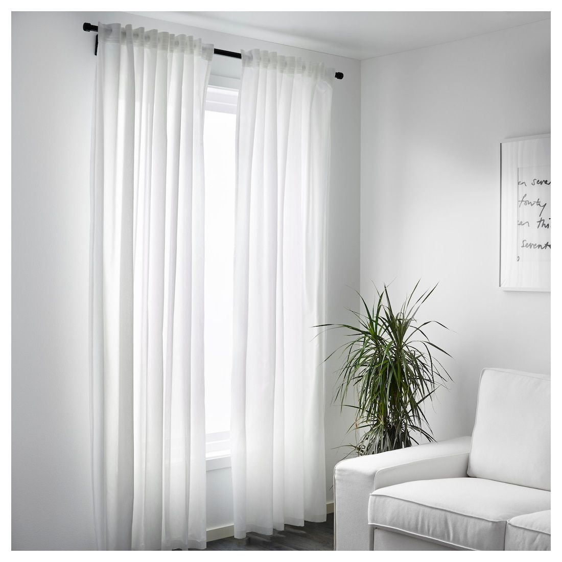 Vivan Curtains 1 Pair White Ikea Curtains Living Room Minimalist Curtains Curtain Designs