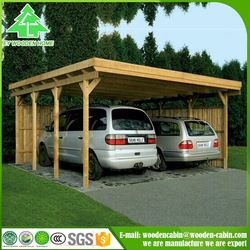 Source Cheap price prefab wooden carport/2 car wooden ...