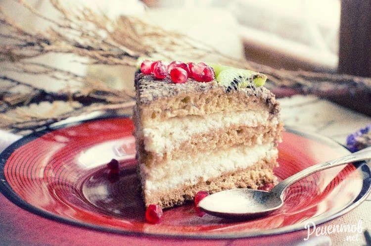 Бисквитный торт с фруктами - рецепт с фото | Бисквитный ...