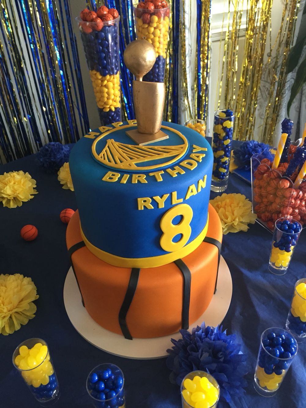 Golden State Warriors Cake Basketball theme party Pinterest