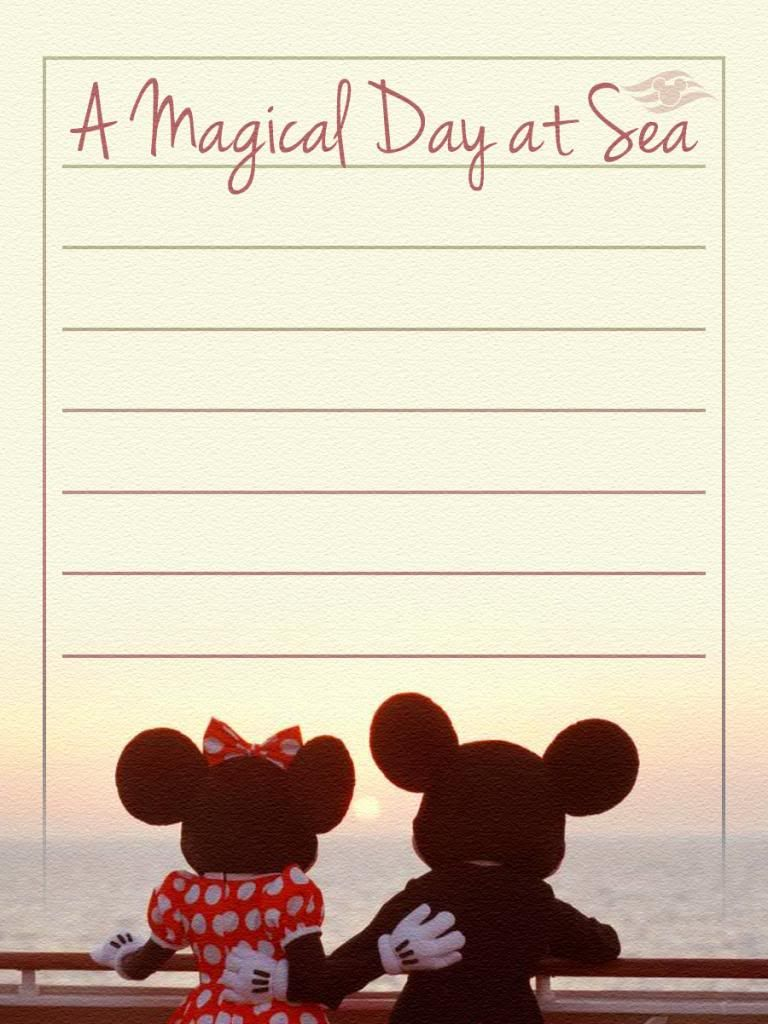 How to scrapbook disney vacation - Journal Card Disney Cruise Line A Magical Day At Sea Lines Photo A Little Journal Card To Brighten Up Your Holiday Scrapbook Click