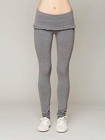 Foldover Frill Legging -- cute yoga pants!