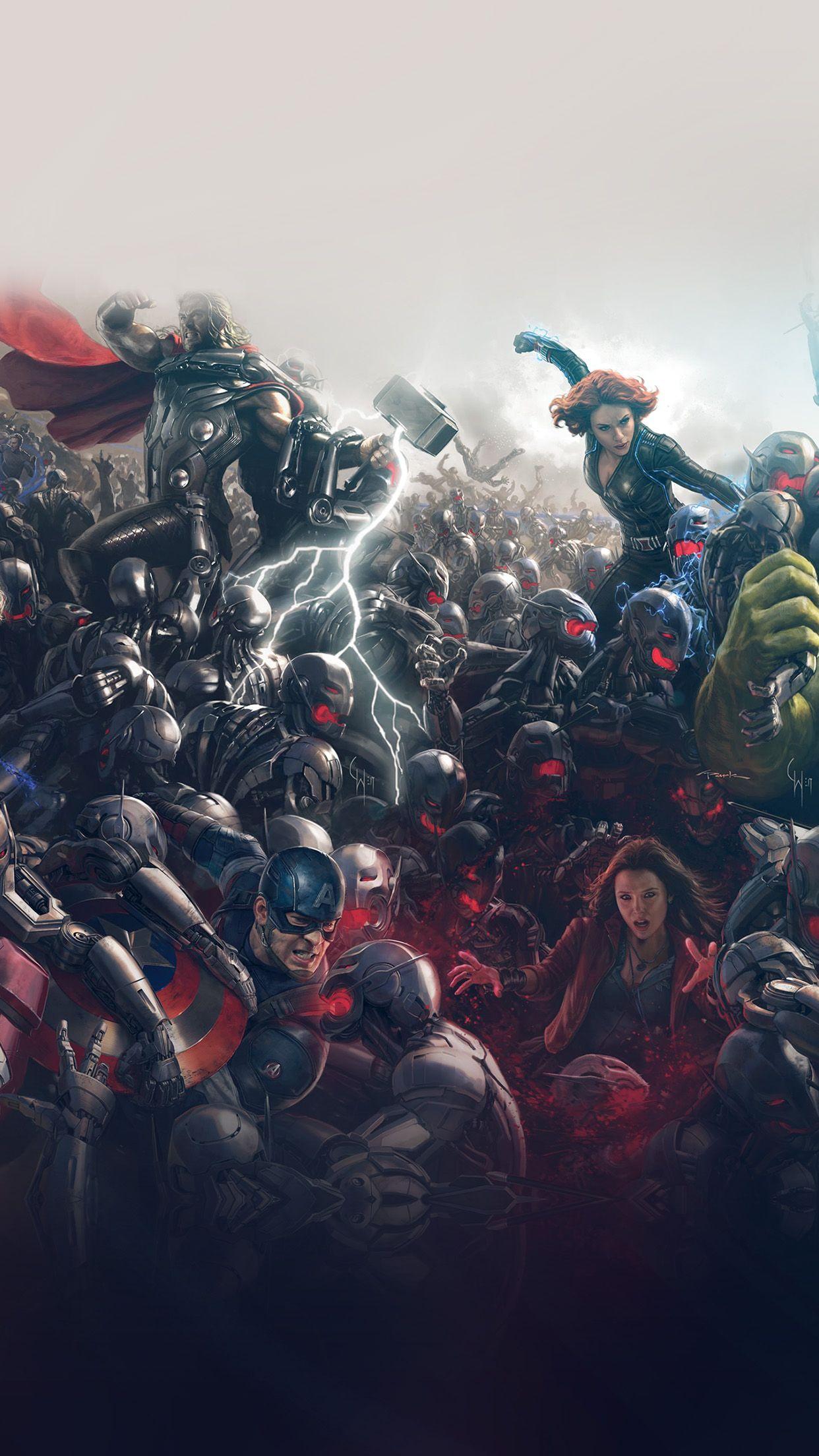 Nice Avengers Marvel Hero Ultron Flare Art Iphone6 Plus Wallpaper