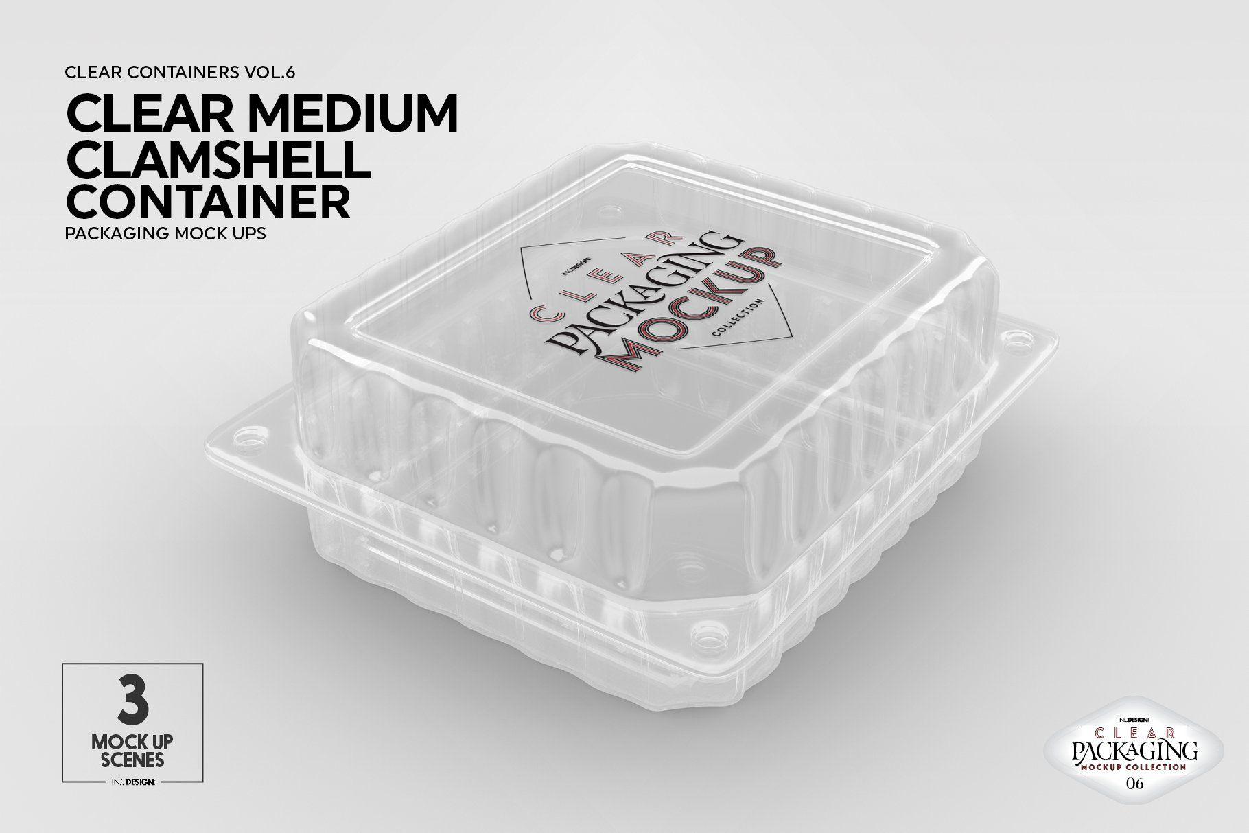 Medium Clamshell Packaging Mockup Packaging Mockup Clamshell