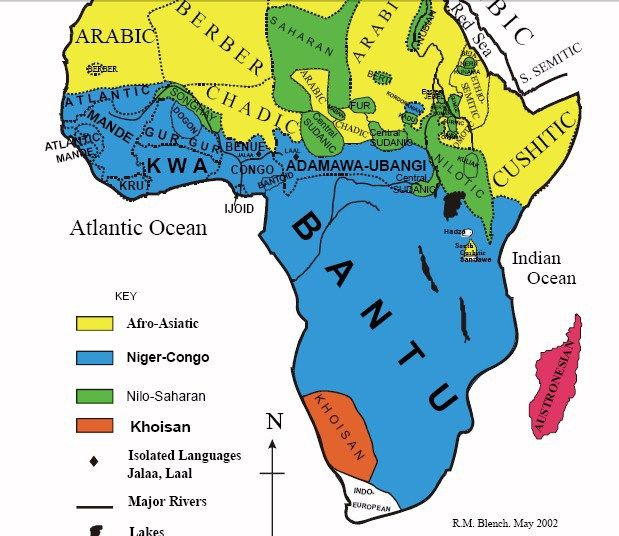 The Bantu Branch of u0027Africansu0027 are Hebrew Israelites PART I of II - new world map of africa