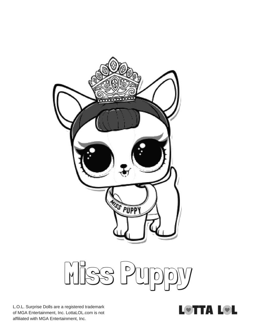 Miss Puppy Coloring Page Lotta