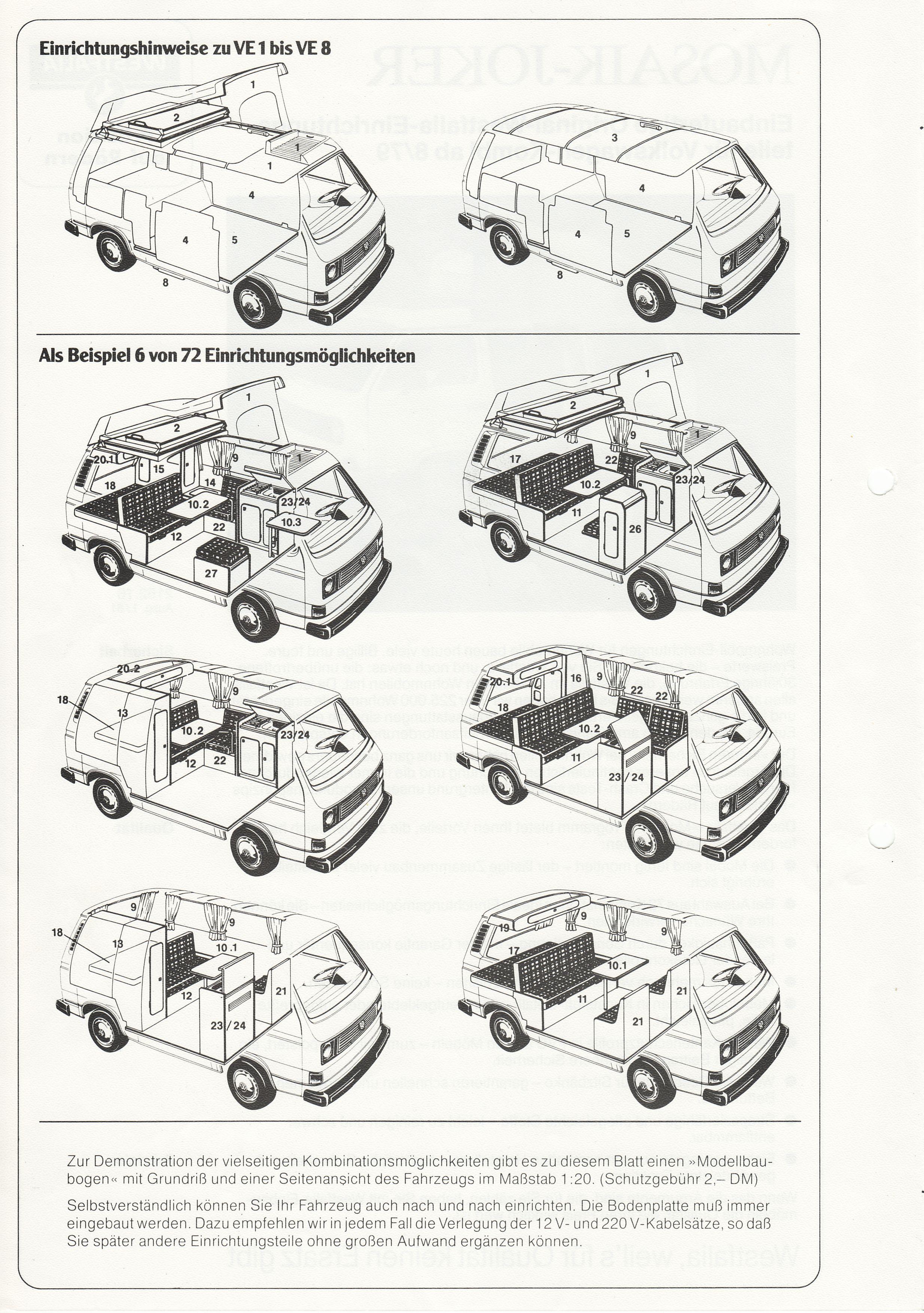 mosaik westfalia t3 westfalia vw syncro vw camper und vw bus t3. Black Bedroom Furniture Sets. Home Design Ideas