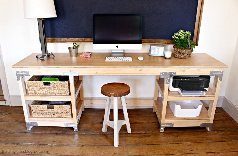 Stupendous Diy How To Build A Workbench Style Custom Desk House Idea Pdpeps Interior Chair Design Pdpepsorg