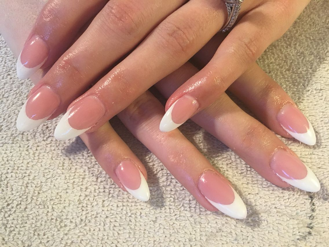 French almond shaped nails   Almond oval nails   Pinterest   Almond ...