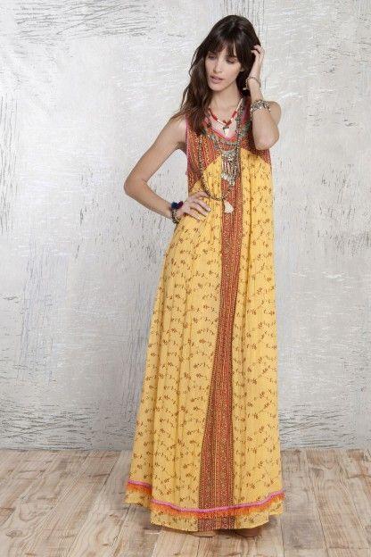 Coast isis maxi dress orange
