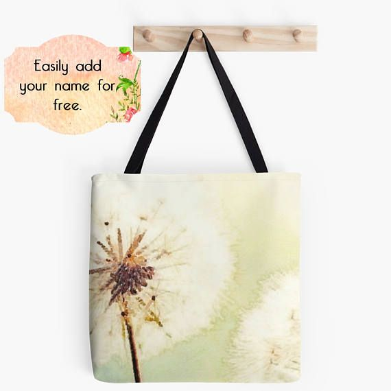 Dandelion Tote Bag Shopping Tote Bag Nature Lover Gift