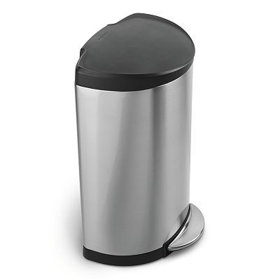 Simplehuman 10 1 2 Gallon Semi Round Step Trash Can Kitchen