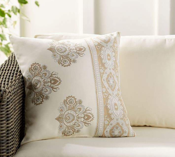 """NWT Pottery Barn Washed Velvet Pillow Cover Yellow 20/"""" Sold out Online /& Stores"""