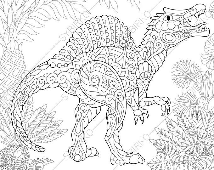Advanced Dinosaur Coloring Pages Background
