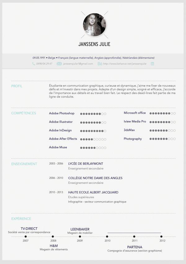 Cv By Janssens Julie Creative Cv Cv Examples Resume