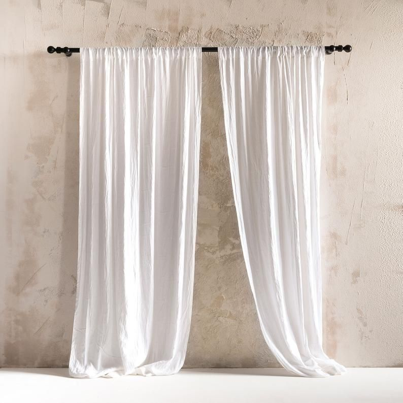 Natural Linen Curtains Rod Pocket Curtains Unlined Or Blackout