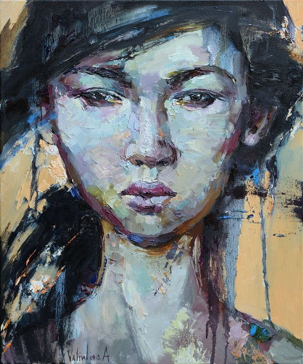 asian girl paintings