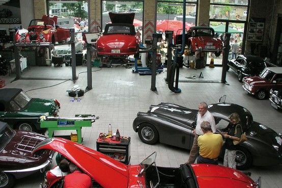 Classic car workshop in Germany | Car workshop, Classic cars, Toy car