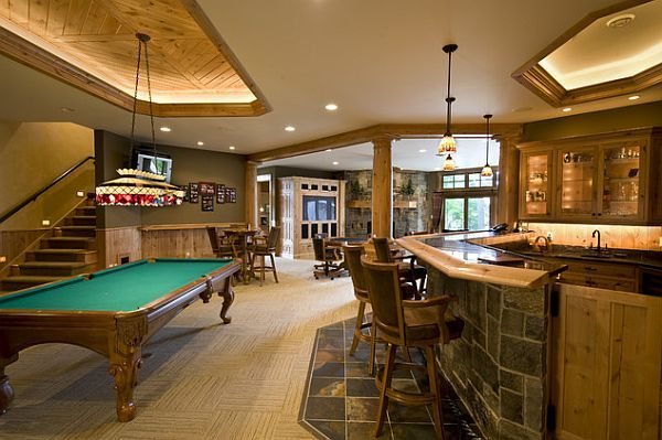 Rec room design ideas for some fancy time at home basements men cave and cave - Rec rooms designs ...