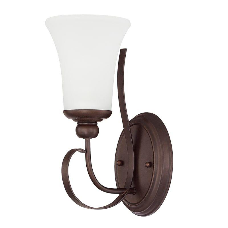 Photo of Capital Lighting 614511-335 Griffin Single Light Bathroom Sconce Bronze Indoor Lighting Bathroom Fixtures Bathroom Sconce