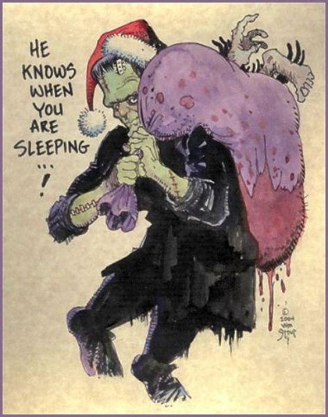 FRANKENSTEIN - Christmas card ☠☠666☠☠   Frankenstein ...