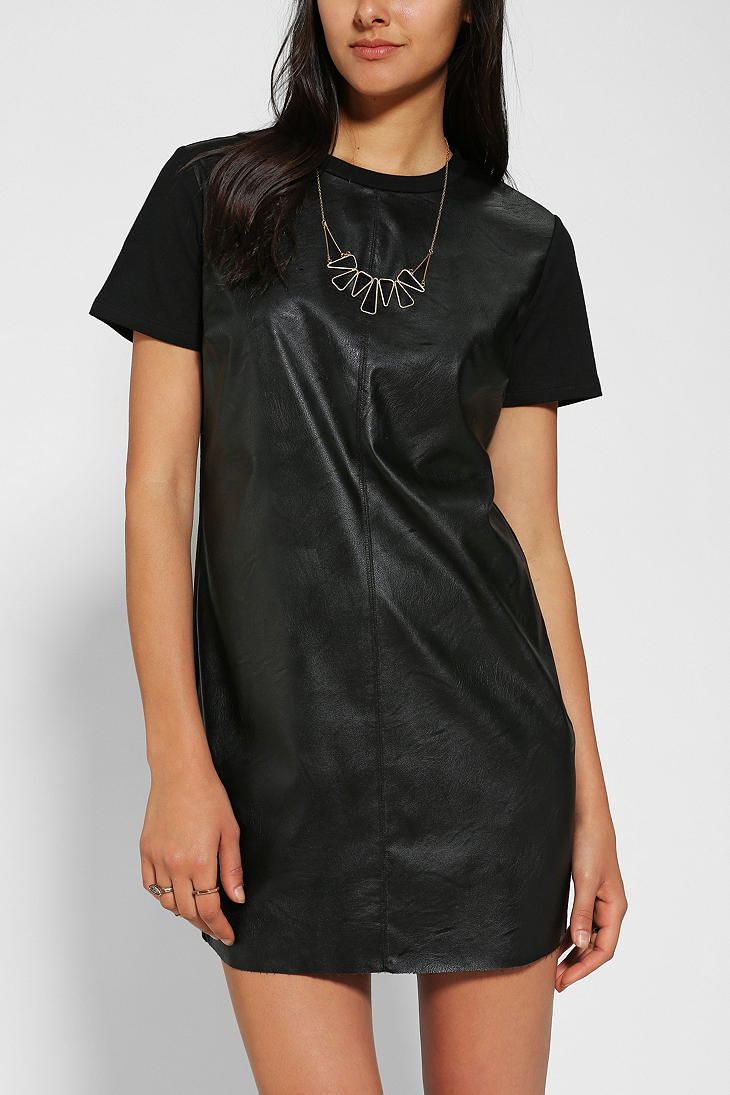 Lucca Couture Faux Leather T-Shirt Dress | My Style- Clothes ...