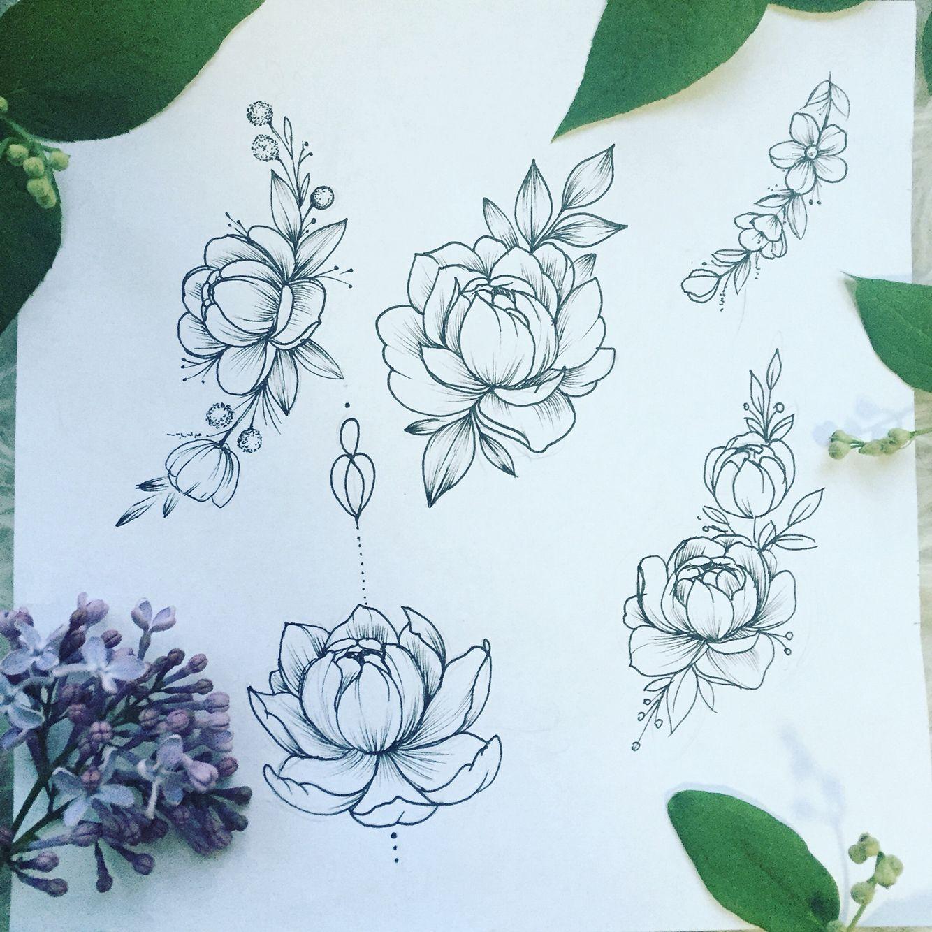 #peonies#tattoo#sketch#draw